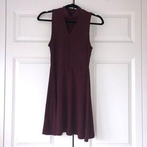 Woman's Aèropostale Mock-neck Dress - Maroon.